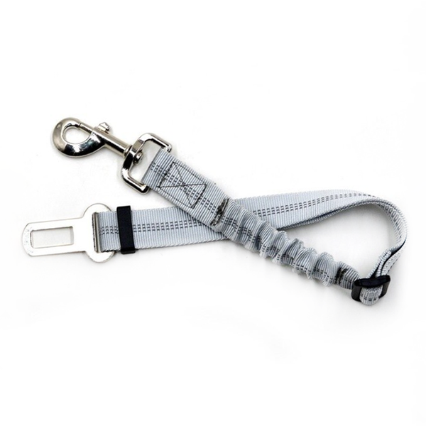 PET CAR SEAT BELT - GREY