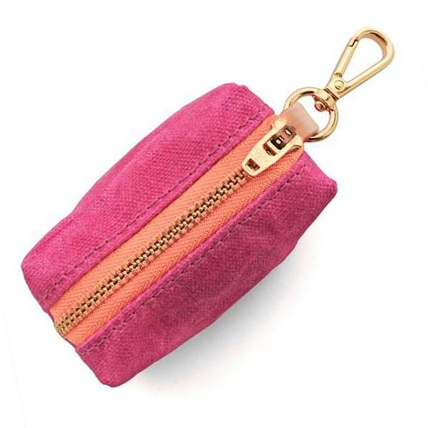 HOT PINK WAXED WASTE BAG DISPENSER