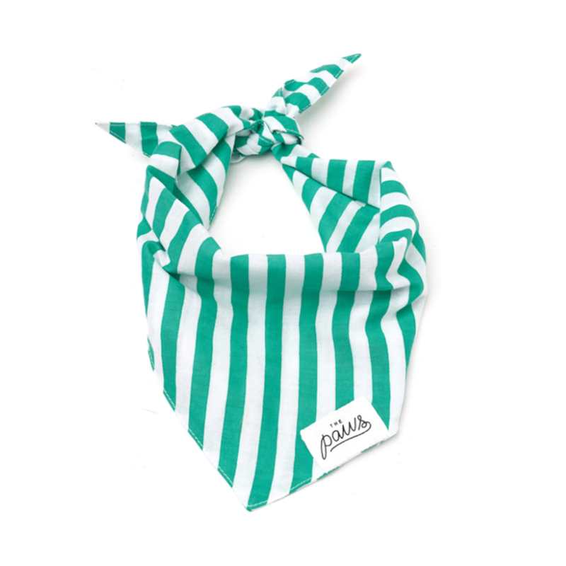 KELLY GREEN STRIPE BANDANA