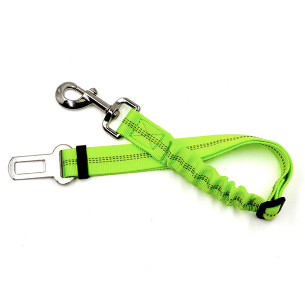 PET CAR SEAT BELT - LIME