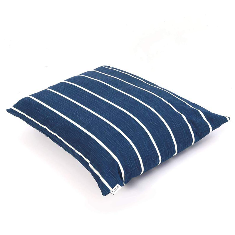 Modern Stripe Pet Bed Cover - Navy
