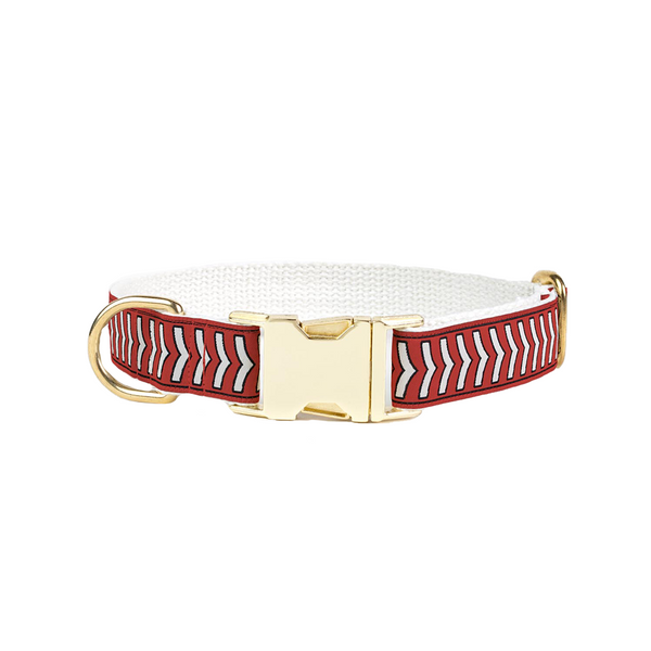 Chef L'Bark Dog Collar - Fire Red