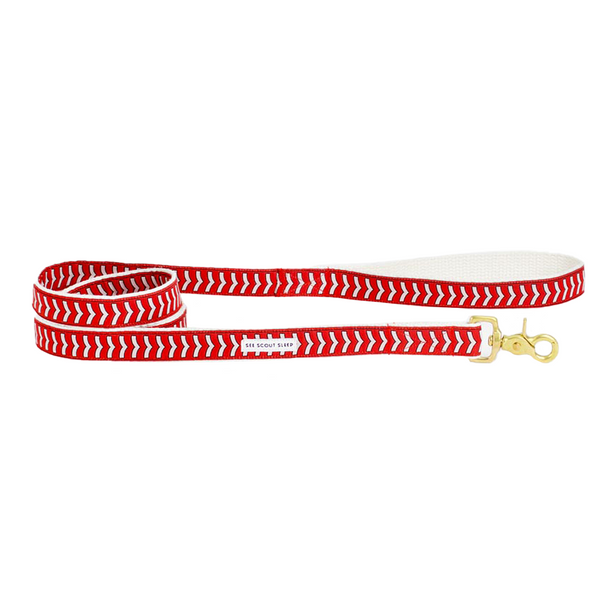 Chef L'Bark Dog Leash - Fire Red