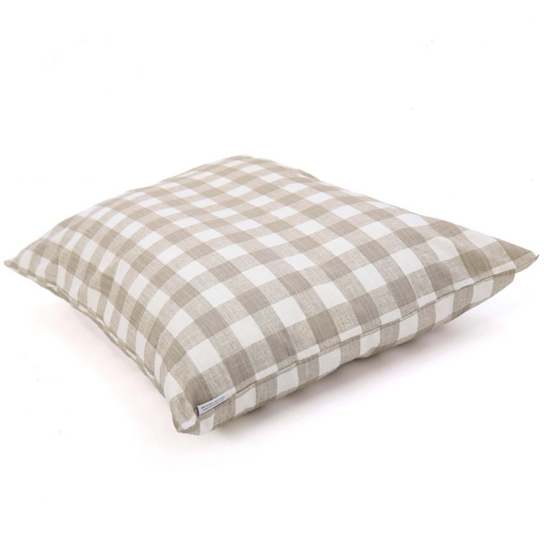 WARM STONE GINGHAM CHECK BED COVER
