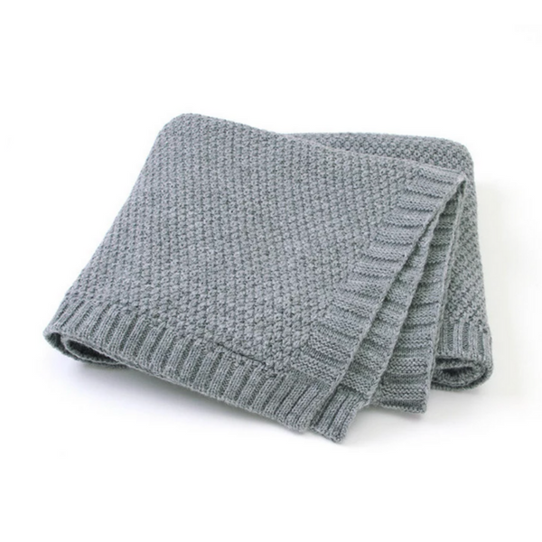 KNIT PET BLANKET - GREY