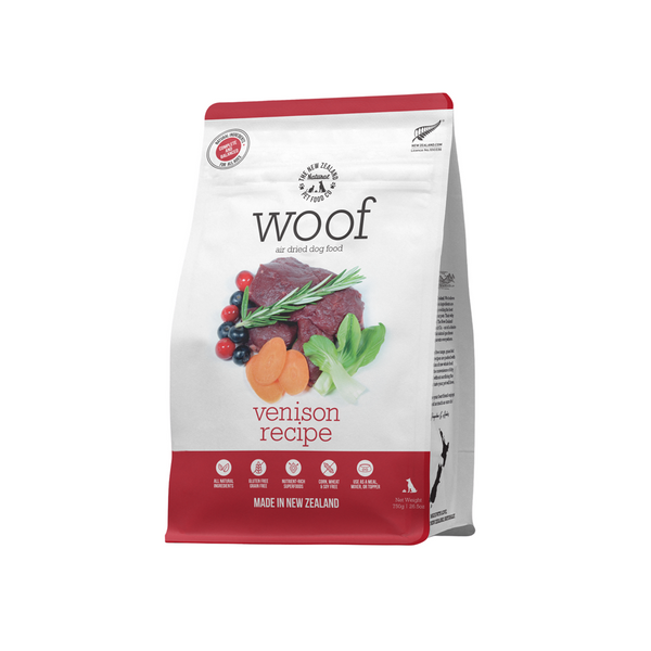 Woof Air Dried Dog Food - Venison 750g