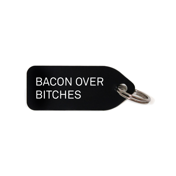 BACON OVER BITCHES COLLAR CHARM