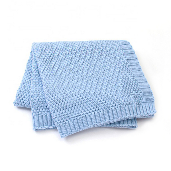 KNIT PET BLANKET - BLUE