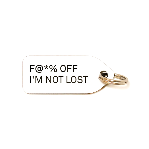 F@*% OFF I'M NOT LOST COLLAR CHARM