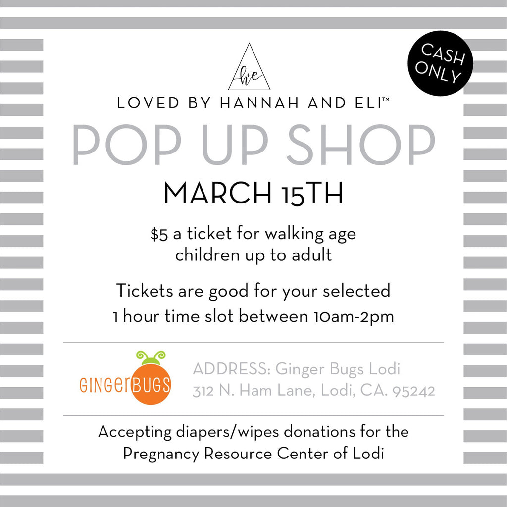 Loved By Hannah And Eli Pop Up Shop