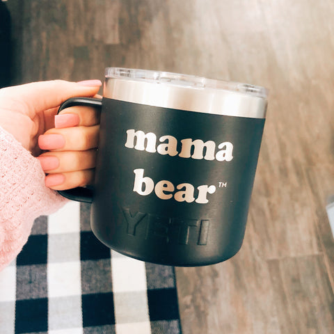 "14oz YETI® ""Mama Bear"" Camp Mugs"