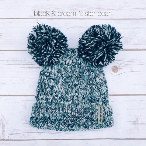 """Sister Bear"" Promo Price Double Pom Beanies"