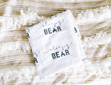 "Muslin Blanket ""Sleepy Bear"""