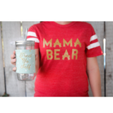 "Football Tee ""Mama Bear"" -  Red"