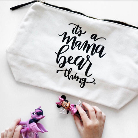 "Travel Pouch ""It's a Mama Bear Thing"" Adornlee Collab"