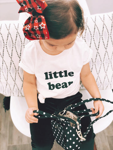 """little bear"" Organic CREAM Toddler Tee Shirt"