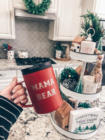 "12oz Scout Mug ""Mama Bear""  - Cherry"