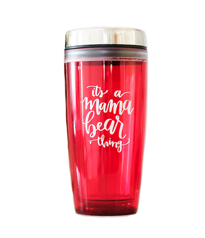 "Thermos Red ""It's a Mama Bear Thing"""