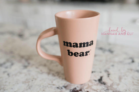"Hazelnut ""Mama Bear"" 14oz Thumbprint Mug"