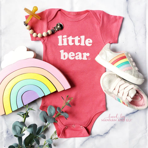 """little bear"" Organic CORAL Bodysuit (NEW)"