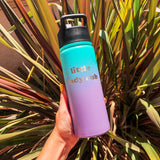 "18oz Water Bottle ""little lady cub"" - Tropical Seas"