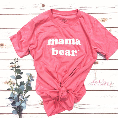"Organic Retro ""Mama Bear"" CORAL (NEW)"