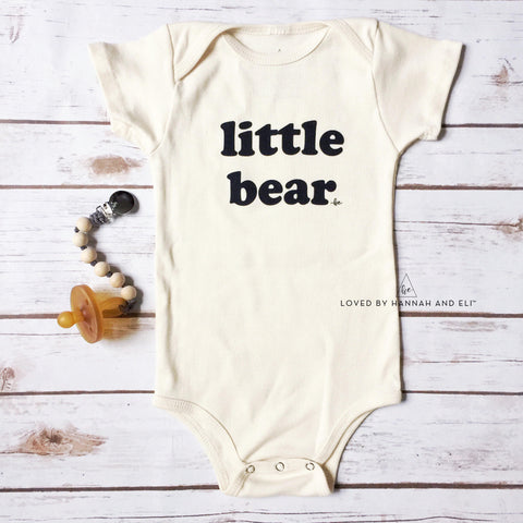 """little bear"" Organic CREAM Bodysuit"