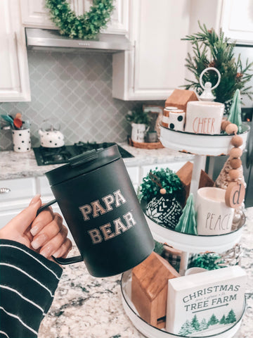 "12oz Scout Mug ""Papa Bear"" - Black"