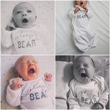 """Sleepy Bear"" Long Sleeve Infant Gown"
