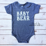 """Baby Bear"" Tri-Grey Bodysuit"