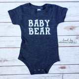 """Baby Bear"" Tri-Black Bodysuit (Gender Neutral)"