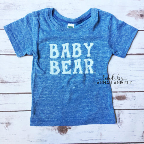"""Baby Bear"" Tri-light Blue Tee"