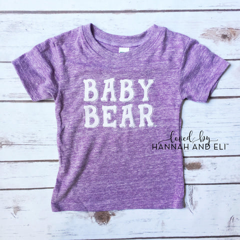 """Baby Bear"" Tri-light Purple Tee"