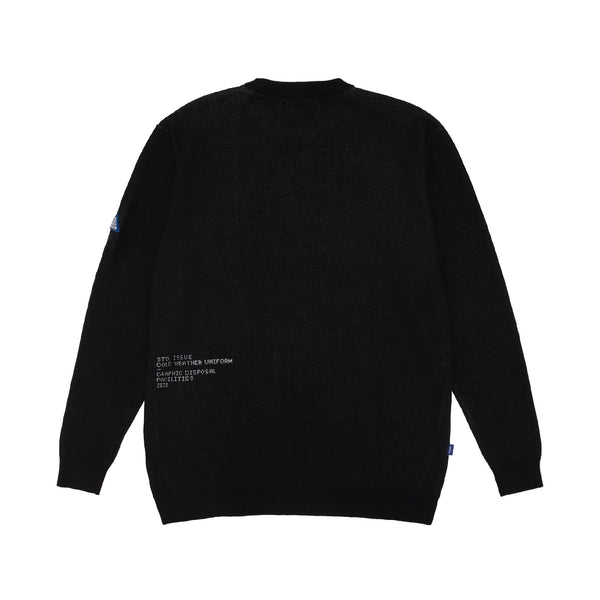 Disposal Knitted Sweater - Black