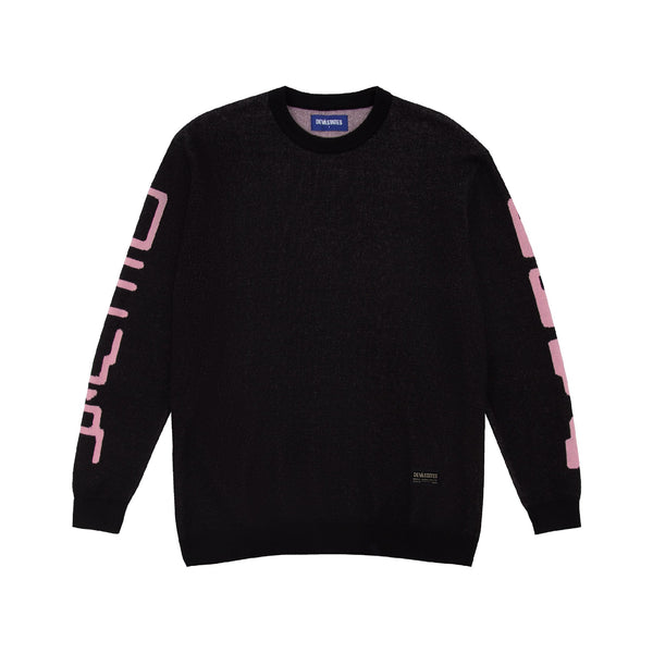 Hole Knitted Sweater - Black
