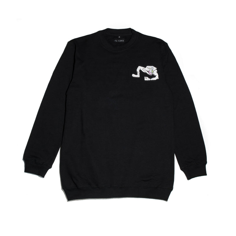 Unsettled 9 Crewneck - Black