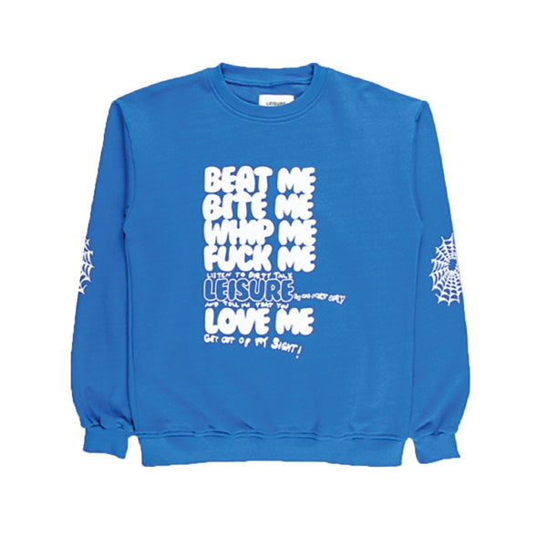 Beat Me Crewneck - Royal Blue