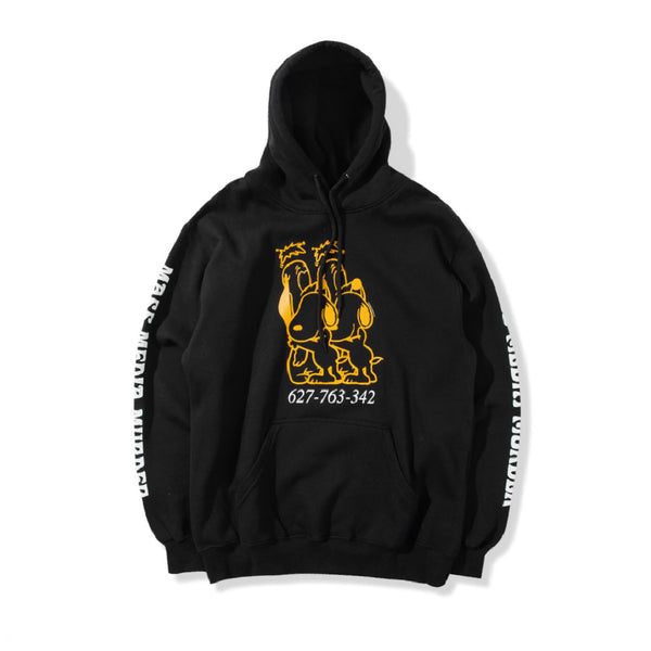 Mass Media Hoodie - Black
