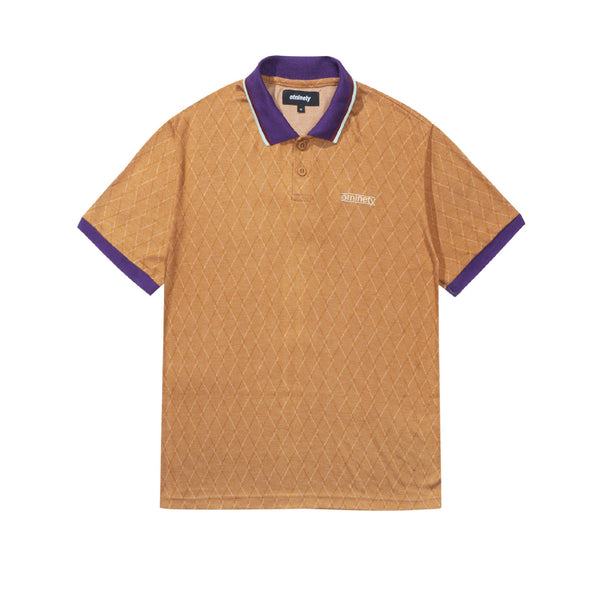Argyle Jacquard Polo - Tan