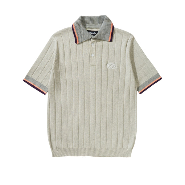 Knitted Polo Shirt - Grey