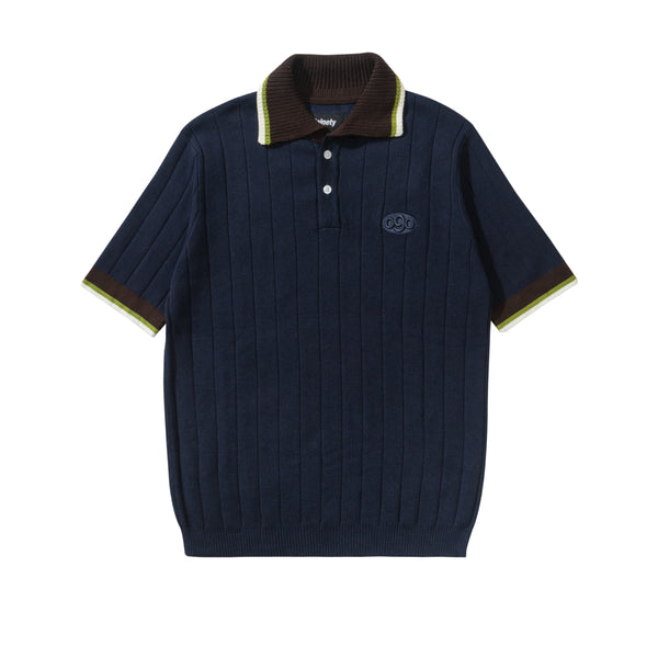 Knitted Polo Shirt - Navy