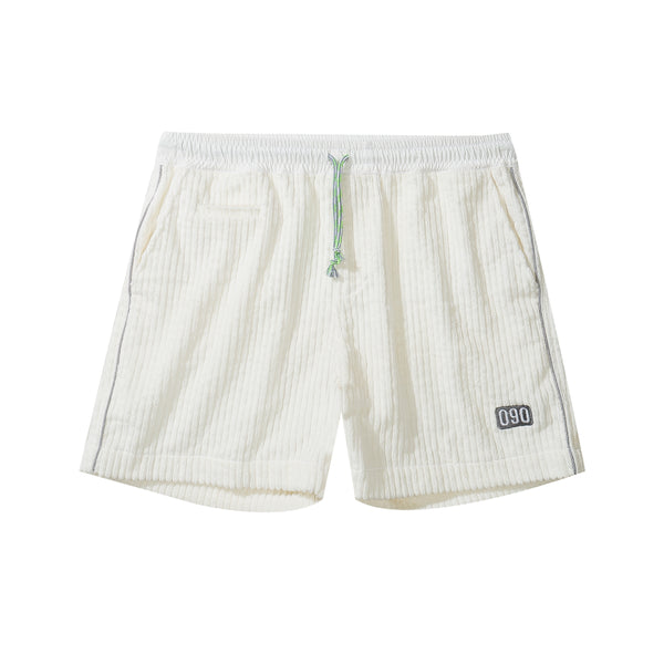 Corduroy Shorts - White
