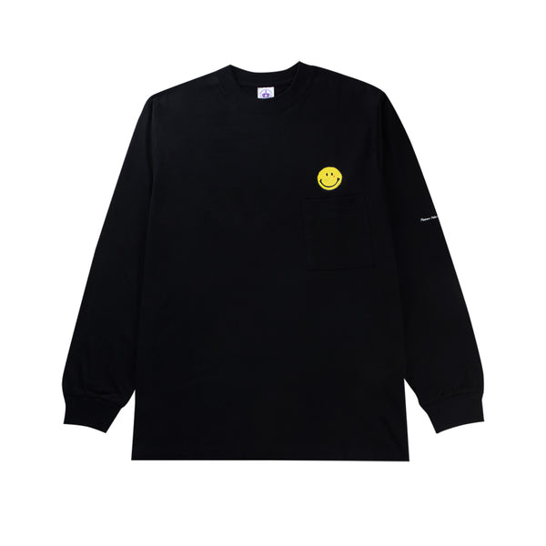 Comedian Longsleeve Pocket - Black