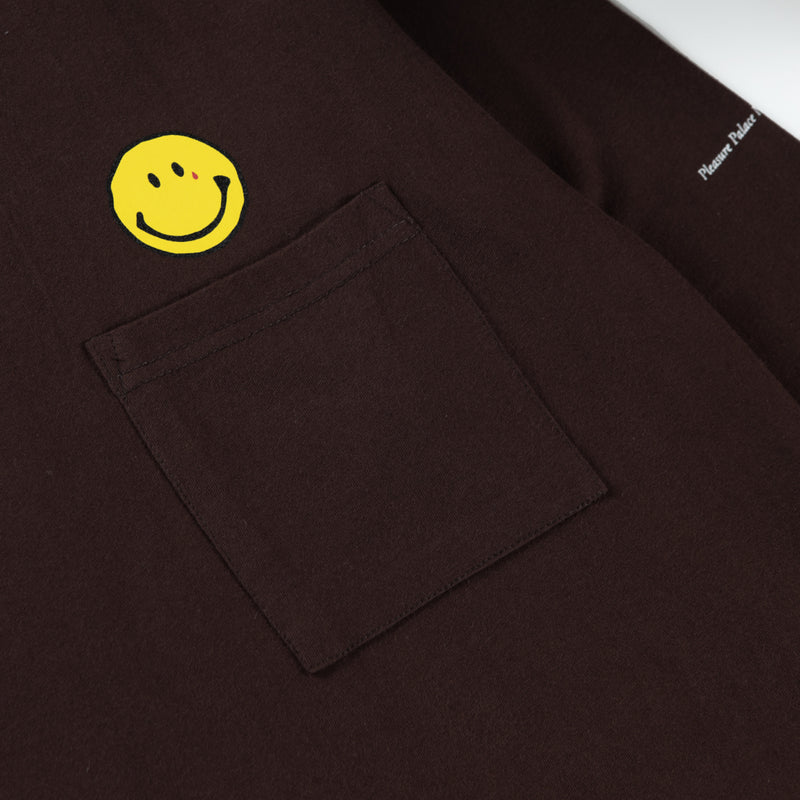 Comedian Longsleeve Pocket - Dark Brown