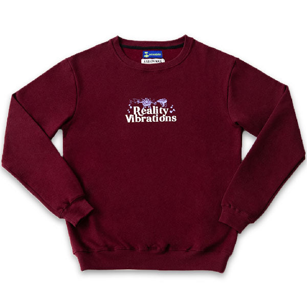 Reality Vibration Crewneck - Maroon