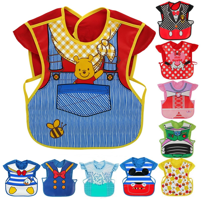 Disney Cute Baby Adjustable Bibs EVA Waterproof