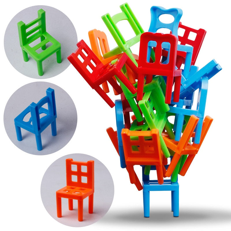 Balanced Chair Stack Game