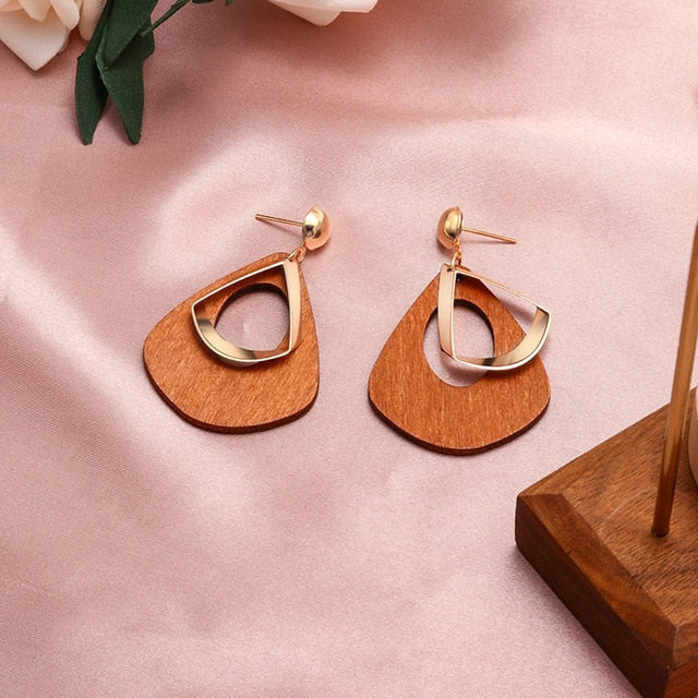 Fashion Round Dangle Drop Korean Earrings For Women