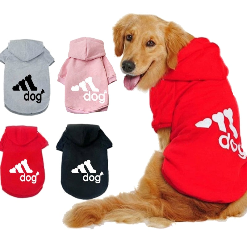 Dog Clothes Pet Casual Hooded Coat Autumn