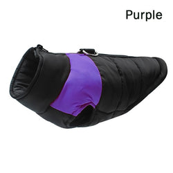 Waterproof Pet Padded Vest Zipper Jacket Coat